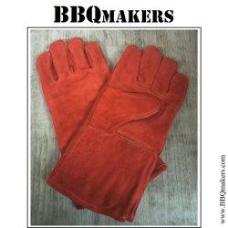 Lederen BBQ handschoenen