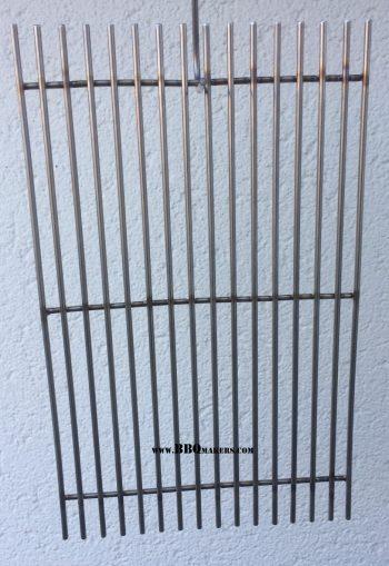 Roestvaststalen barbecue rooster op maat type eenvoudig met onderliggers