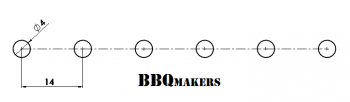 Eenvoudig barbecue rooster profiel