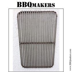 RVS BBQ rooster met afgeronde hoeken type robuust op raamwerk