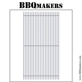 RVS Barbecue rooster op maat type standaard onderliggers mig